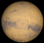 Mars at opposition in 2020 (Image from NASA's Solar System Simulator v4)