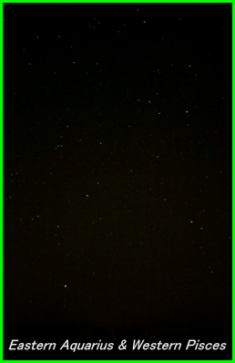 Photograph showing the constellations of Aquarius, Piscis Austrinus and the Circlet of Pisces. Click for a full-size photo (Copyright Martin J Powell, 2005)