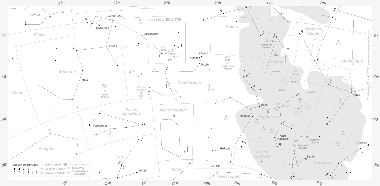 The Position Of Mars In The Night Sky To - Orion star map