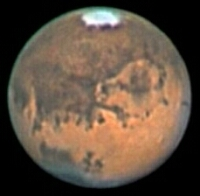 The planet Mars imaged by Ed Grafton in August 2003. Click for larger size version, 28 KB (Image: Ed Grafton /ALPO-Japan)