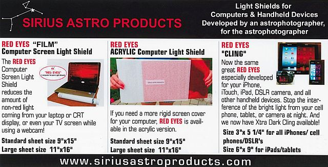 Sirius Astro Products - Products for the Astronomer