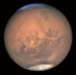 Mars at closest approach imaged by Avani Soares (Canoas, Brazil) in July 2018 (Image: Avani Soares/ALPO-Japan)