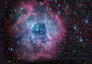 The Rosette Nebula (NGC 2237) imaged by John Lanoue