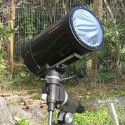 A telescope fitted with an aluminised mylar filter (Image: Don Cross)