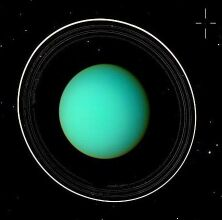 Uranus and its system of rings imaged by NASA's Voyager 2 spacecraft in 1986 (Image: NASA)