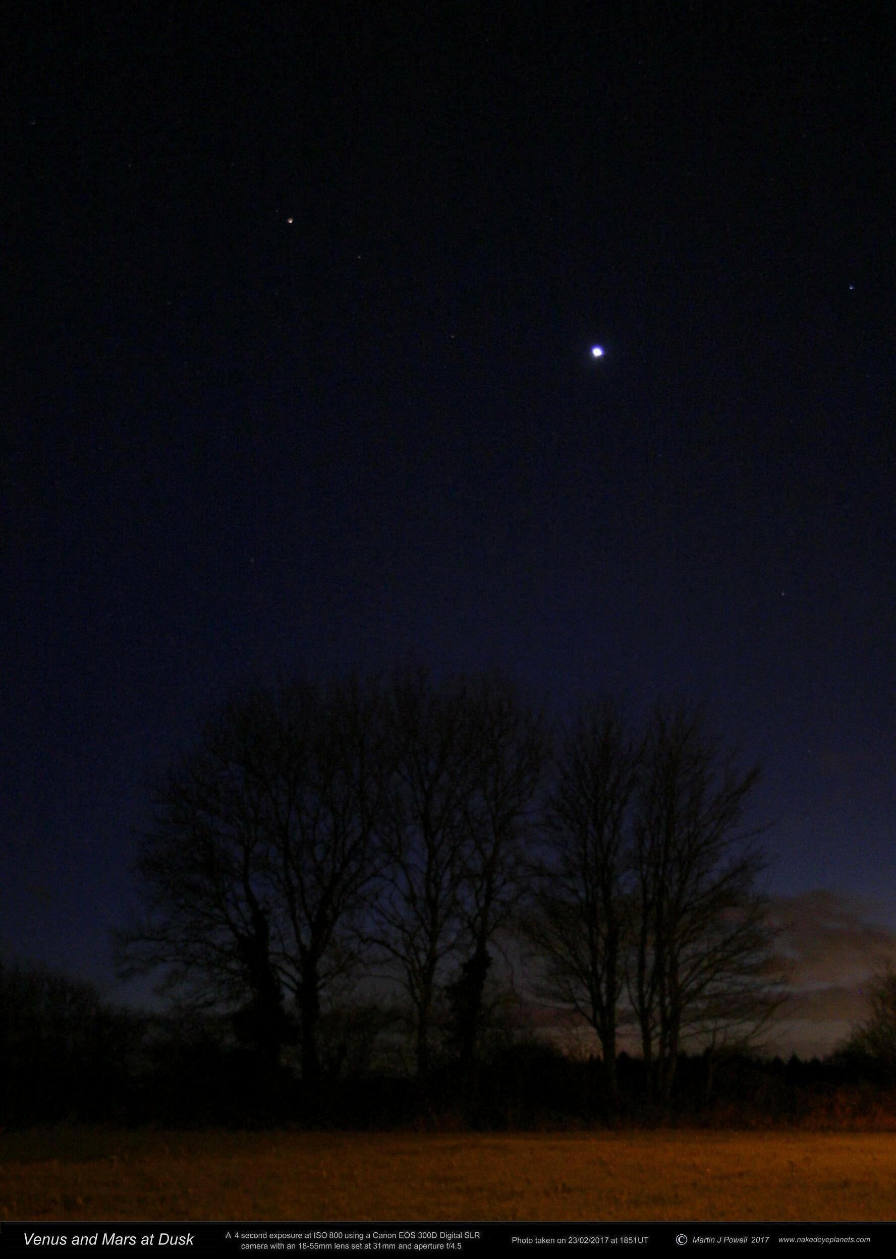 63f9ebb0e7 The Position of Venus in the Night Sky  2018 Evening Apparition