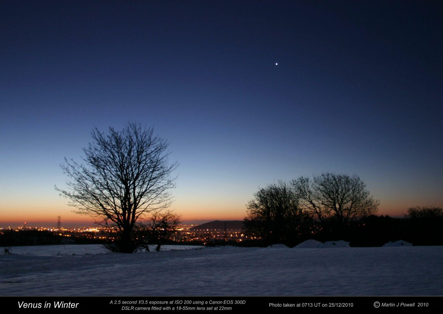 winter night sky planets - photo #46