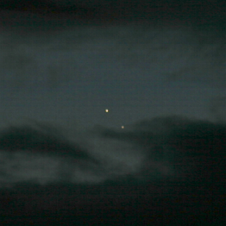 A dawn conjunction between Venus and Jupiter in 2014 (Photo: Copyright Martin J Powell, 2014)