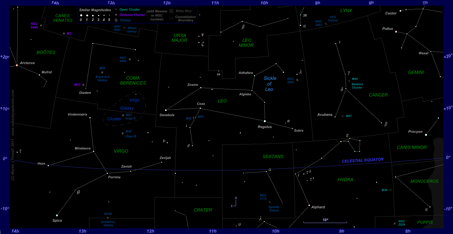 Image Gallery leo constellation star chart